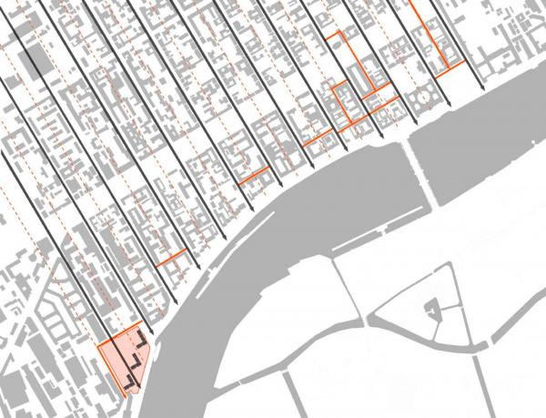 Жилой комплекс «Красин». Пробивка улиц и внутренних проездов. © Студия 44 Изображение предоставлено пресс-службой КГА