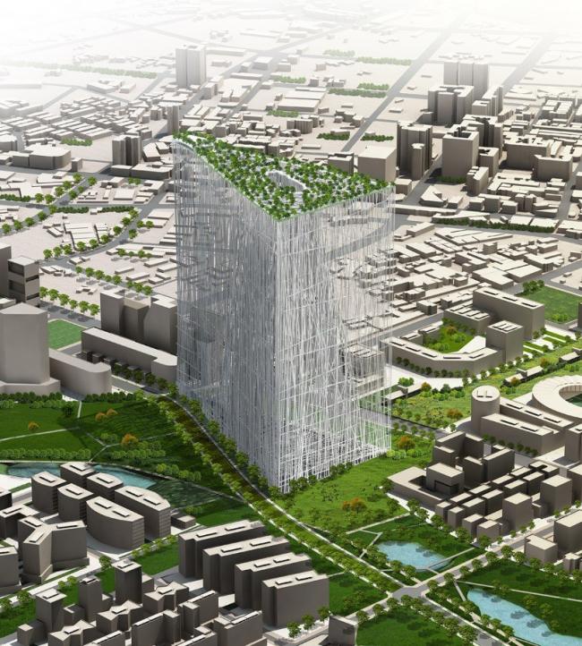 Проект небоскреба 21st century oasis © Sou Fujimoto Architects