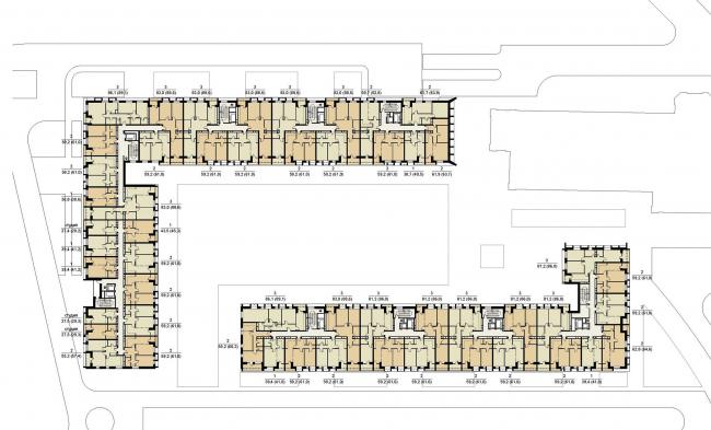 Планировки жилых секций