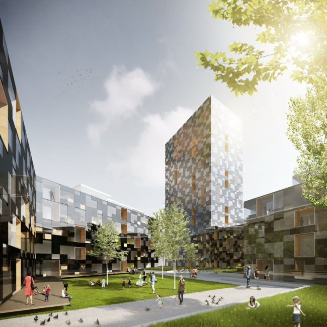 Комплекс «Quartier M» ©  Delugan Meissl Associated Architects