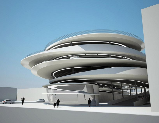 Паркинг Коллинс-Парк © Zaha Hadid Architects
