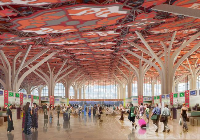 Международный аэропорт города Ашхабад © Архитектурное бюро «Студия 44»