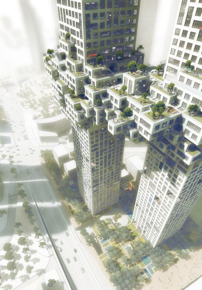 Комплекс The Cloud © MVRDV