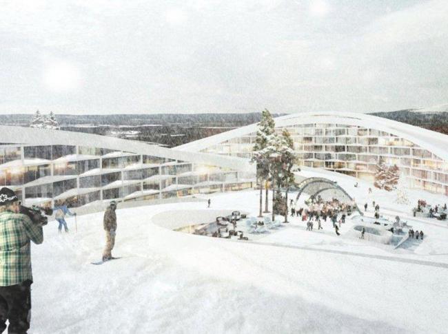 Лыжная деревня Коуталаки © BIG architects