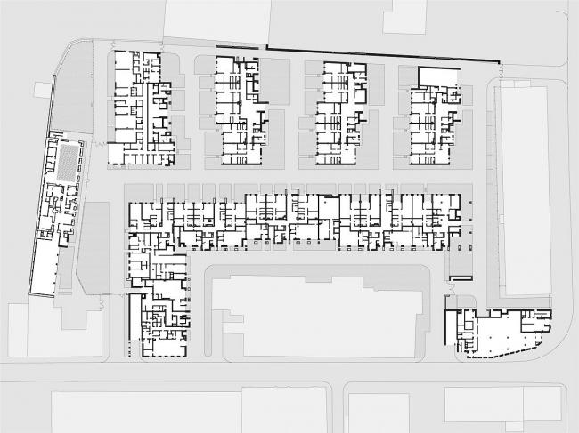 Жилой комплекс на улице Льва Толстого. План © Сергей Киселев и Партнеры