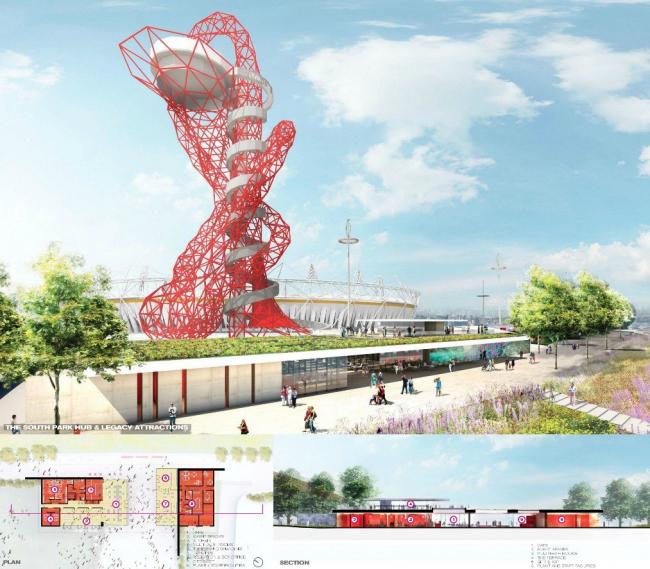 Олимпийский парк королевы Елизаветы. Южная часть © Olympic Park Legacy Company