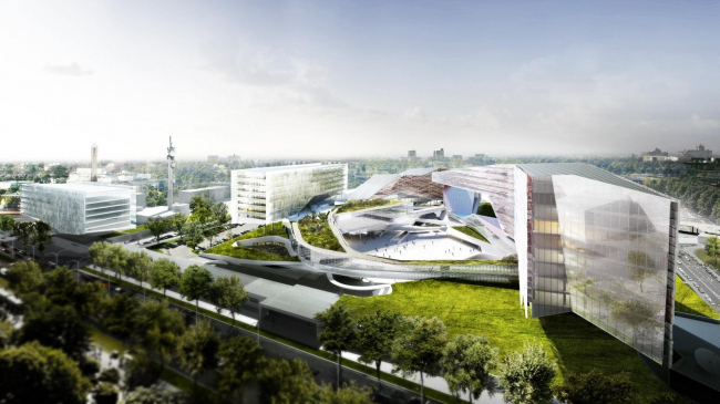 Деловой центр «Исследование и производство» компании Eni © Morphosis Architects