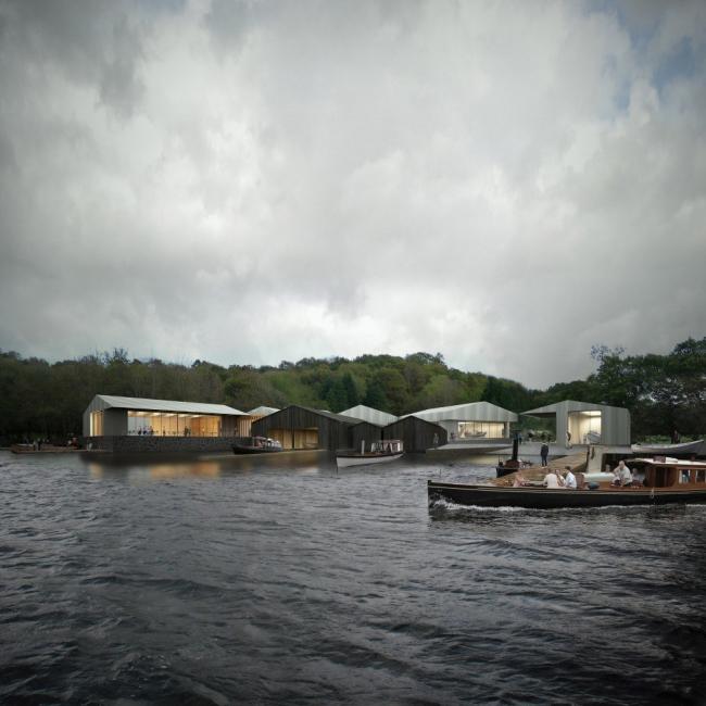 Музей пароходов на озере Уиндермер © Carmody Groarke