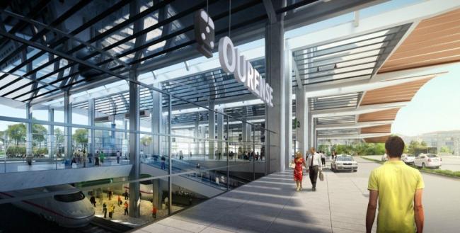 Вокзал поездов AVE в Оренсе © Foster + Partners