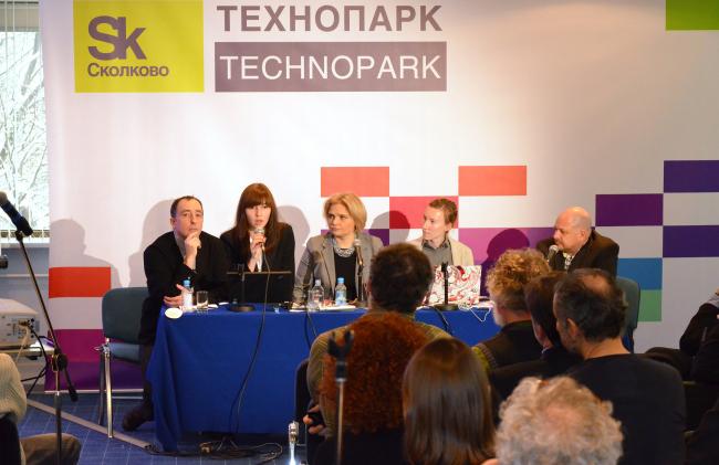 Ведущие семинара (слева-на право): Джемал Сурманидзе, Наиль Бородина, Анна Тургеньева, Ольга Хохлова, Гари Вентворт
