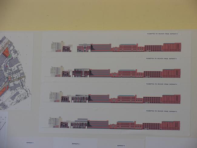 Проект застройки «Трансмаша». Принят вариант 4 (третий сверху).