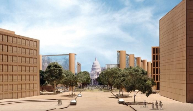Мемориал Дуайта Д. Эйзенхауэра. Проект 2011 г. © Gehry Partners