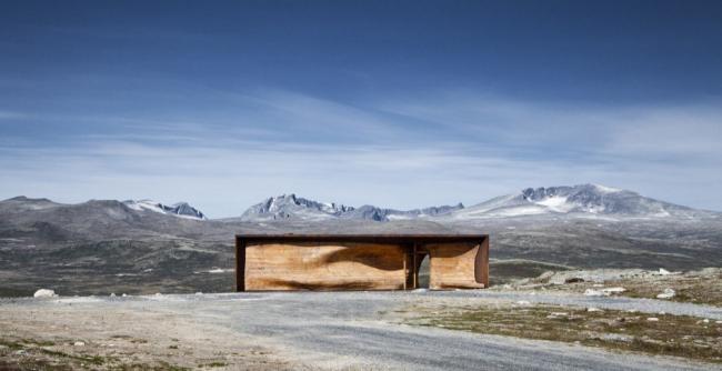 «Тверрфьелльхютта» – павильон Центра диких северных оленей © Ketil Jacobsen