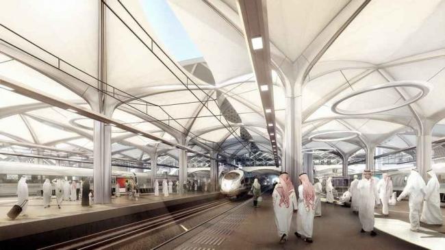 Станции скоростной железной дороги «Харамайн» © Foster + Partners