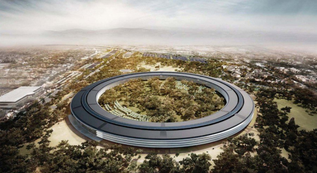 Кампус Apple Park – штаб-квартира компании Apple © Foster + Partners, Apple Inc.