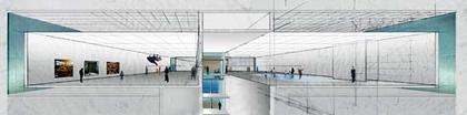 Институт современного искусства. Проект. Вид залов