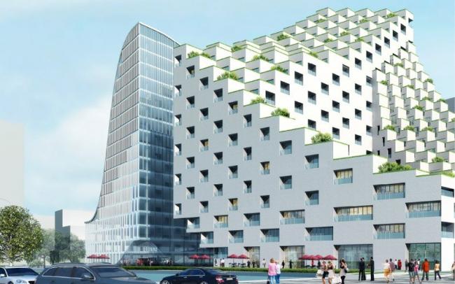 Комплекс Hangzhou Waves © JDS Architects