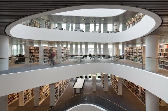 Новая библиотека Абердинского университета. Фото Adam Mørk. Предоставлено schmidt hammer lassen architects