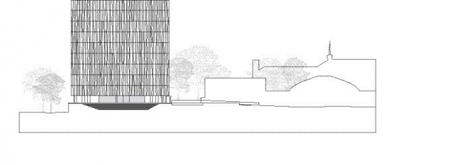 Новая библиотека Абердинского университета. Южный фасад. Изображение предоставлено schmidt hammer lassen architects