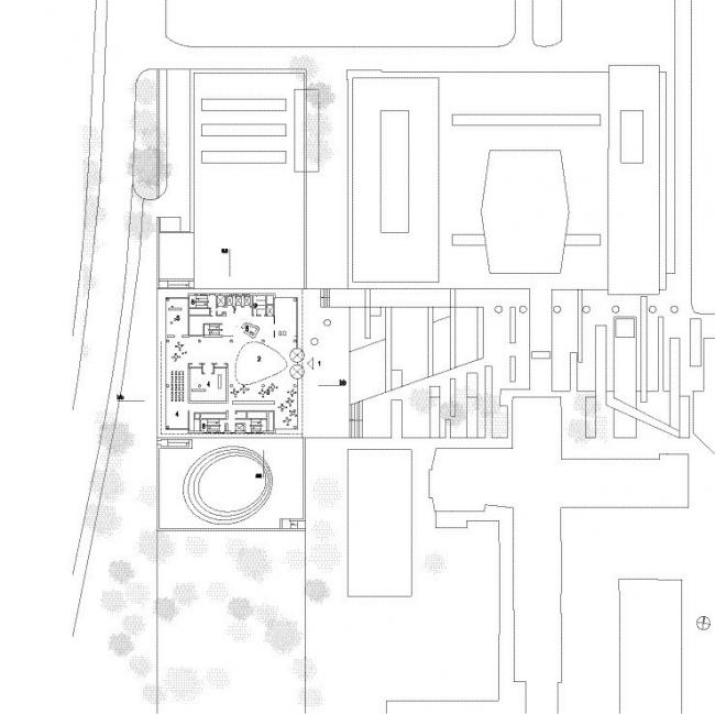 Новая библиотека Абердинского университета. Первый этаж. Изображение предоставлено schmidt hammer lassen architects