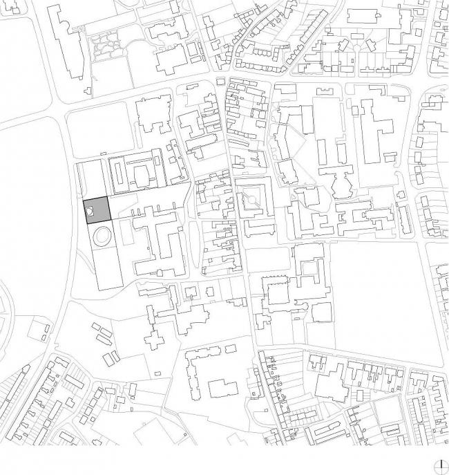 Новая библиотека Абердинского университета. Ситуационный план. Изображение предоставлено schmidt hammer lassen architects