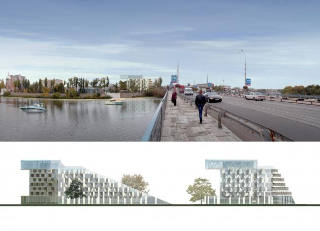 Гостиничный комплекс в городе Винница © Архитектурное бюро Асадова