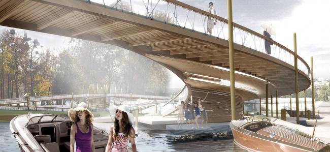 Концепция благоустройства острова Кемпа в г. Виннице © Архитектурное бюро Асадова