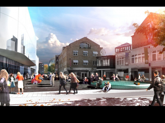 Проект благоустройства Форумной площади в Уппсале. © White Architects