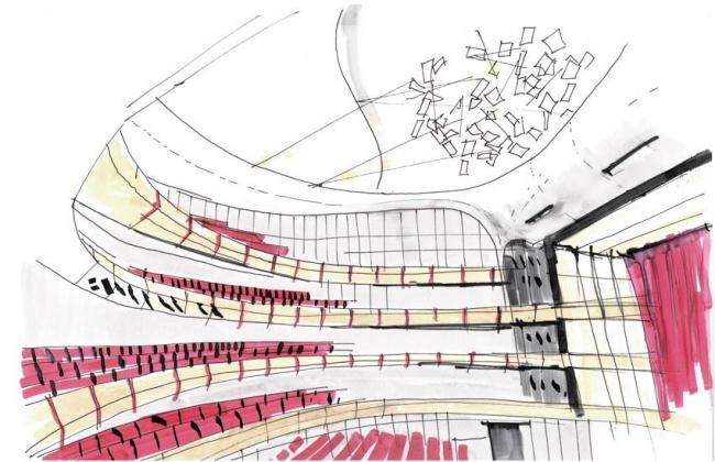 Культурный центр Фонда Ставроса Ниархоса. Окончательный проект © Renzo Piano Building Workshop