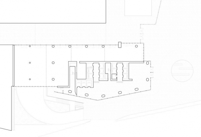 Офисная башня Mitikah. План 1-го этажа © Richard Meier & Partners