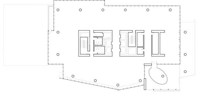 Офисная башня Mitikah. План 21-го этажа © Richard Meier & Partners