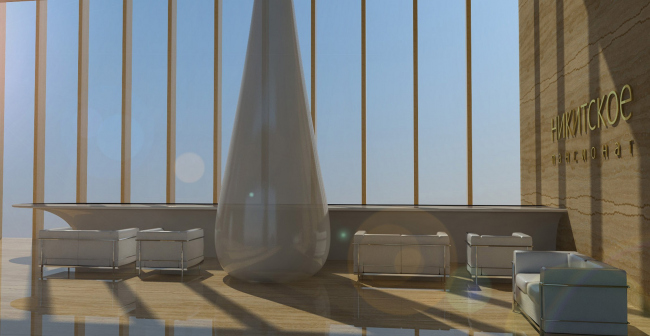 Архитектурная концепция санатория на 500 мест близ деревни Никитское в Подмосковье © ПТАМ Виссарионова