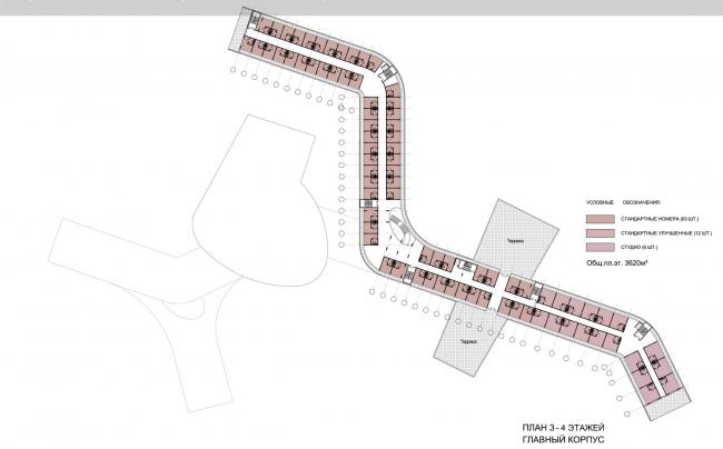 План 3 и 4 этажа