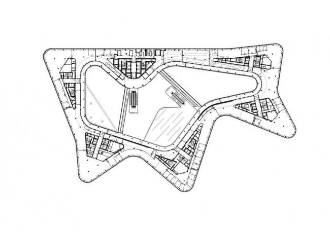 Штаб-квартира Немецкого автомобильного клуба (ADAC). План 2-го этажа © Sauerbruch Hutton