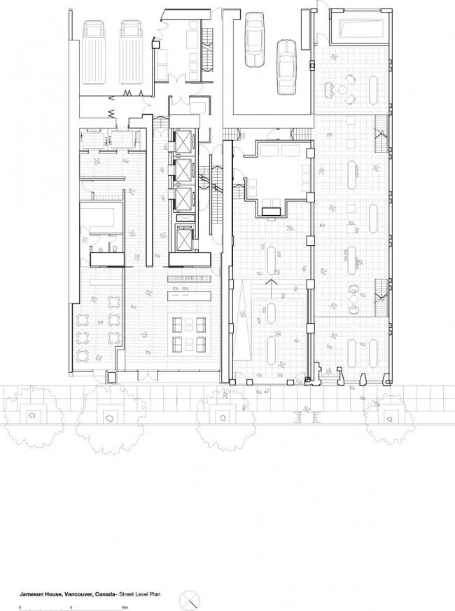 Башня Jameson House. План по уровню улицы © Foster + Partners