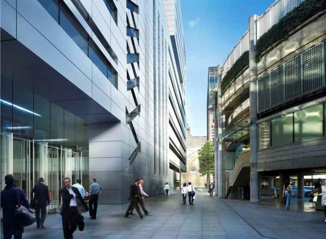 Офисный комплекс 5 Broadgate - штаб-квартира компании UBS © Make Architects