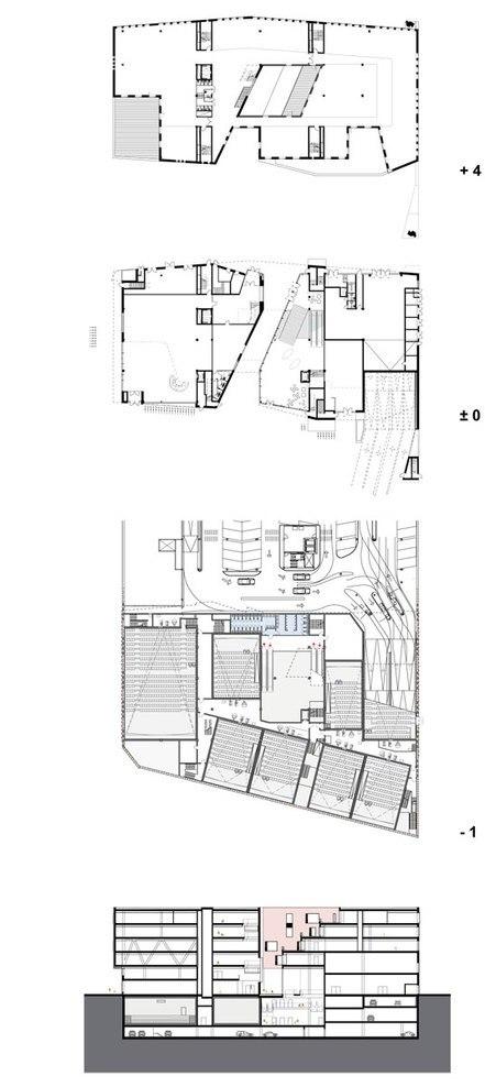 Комплекс Raakspoort - ратуша и кинотеатр © Bolles+Wilson