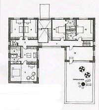 Британский дом в поселке Никольская слобода. План II этажа