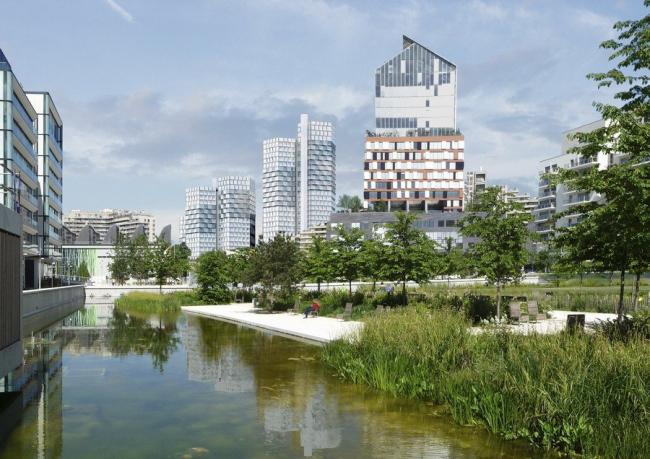 Комплекс CityLights. На первом плане–комплекс «Горизонт» Жана Нувеля © Dominique Perrault Architecture /Adagp
