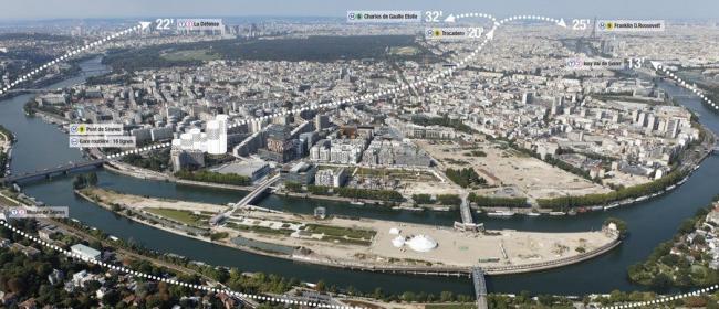 Комплекс CityLights. Схема расположения © Dominique Perrault Architecture /Adagp
