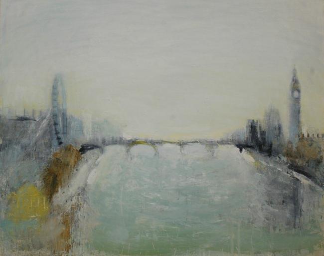 Евгения Буравлева. Осень в Лондоне. 2012, х., м., 120х150
