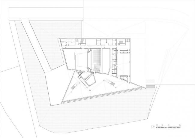 Городской концертный зал Теулады. План по уровню -4 м © Francisco Mangado