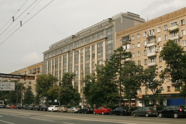 Проект реконструкции фасадов здания ПромСтройПроекта. Реализация, 2011 © Архитектурная мастерская Павла Андреева