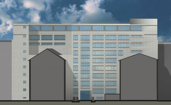 Проект реконструкции фасадов здания ПромСтройПроекта. Проект, 2010 © Архитектурная мастерская Павла Андреева