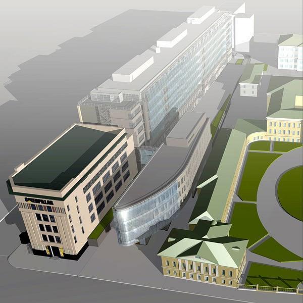 Офисный комплекс «Эрмитаж-плаза». Проект © СКиП