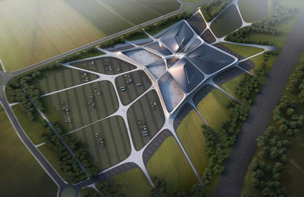 Выставочный комплекс Chartrexpo © Zaha Hadid Architects