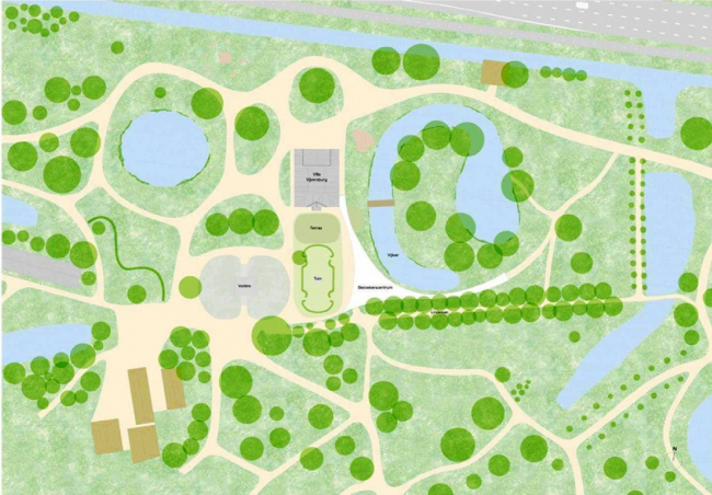 Павильон в парке Вейверсбюрг © Junya Ishigami  + Associates & STUDIO MAKS