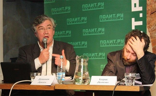 Доминик Дрюен (слева), Борис Долгин (справа). Фотография Ларисы Талис