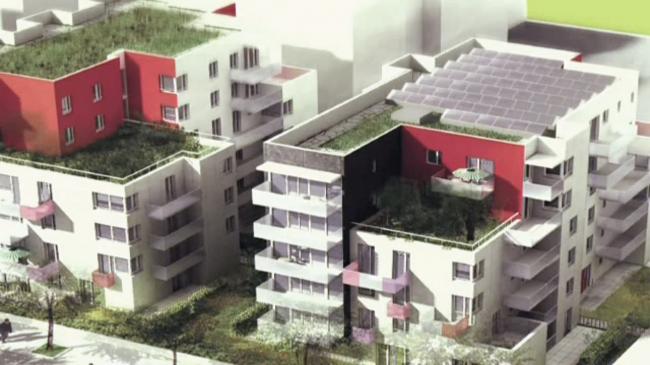 Пятиэтажные дома, которые заменят 14-этажные дома-пластины. Витри-на-Сене, кадр из ролика http://www.dailymotion.com