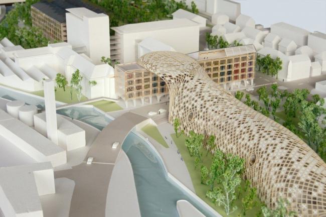 Здания Swatch и Omega © Shigeru Ban Architects